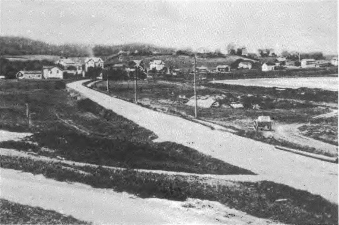 Historisk bilde 1920 idrettsplassen banen